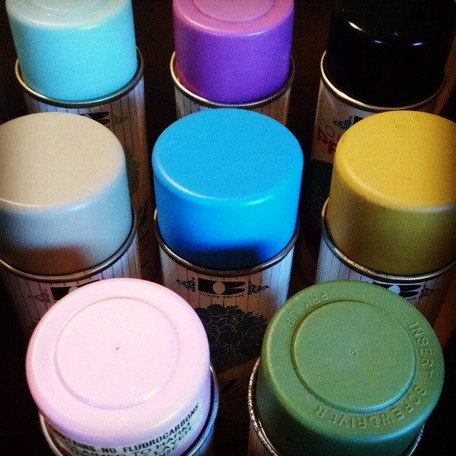 Illbronze soldiers #fridaynightnerding #colors #accents #butterscotch #truepink #paleorchid #springgreen #wildhoney…