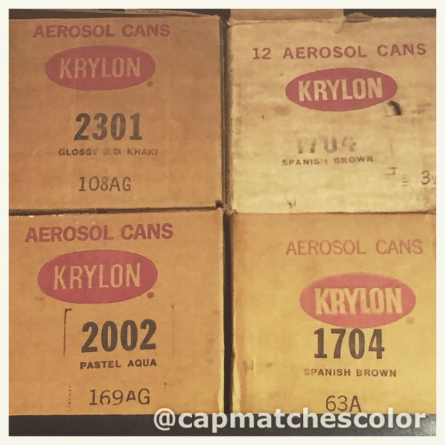 #funkyfreshfriday #12pack bonanza #krylon #odkhaki #pastelaqua #spanishbrown #3f enjoy the…