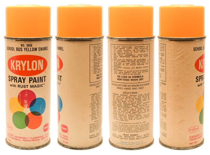 Bargain Lot Of 10 Vintage Krylon Flat Ball Spray Paint Can Old